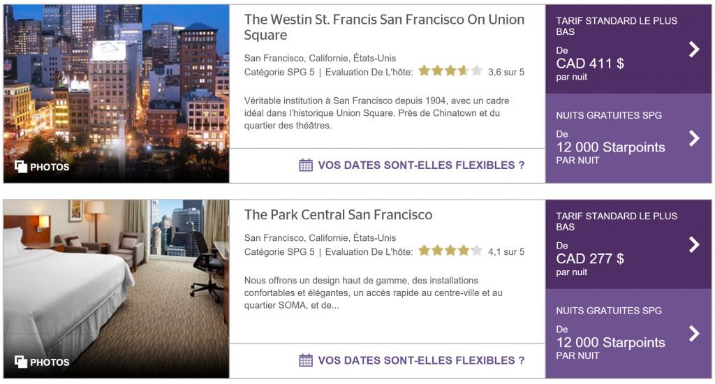 San Francisco Avec Des Points & Miles Aéroplan