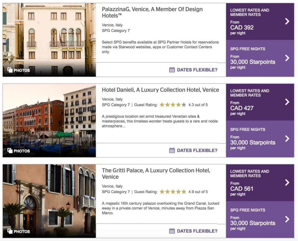 starwood preferred guest venise italie 1