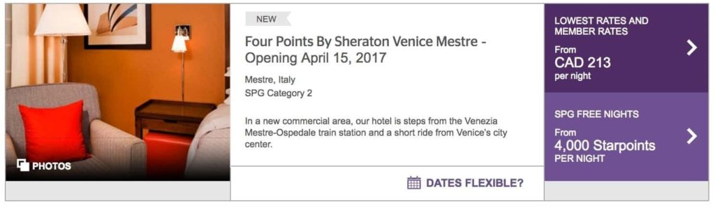 starwood preferred guest venise italie 3