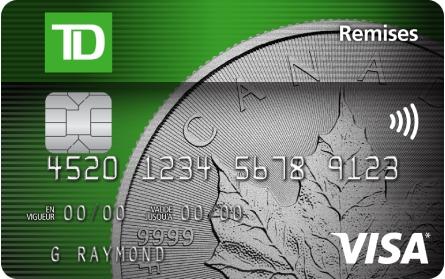 Td Cash Back Visa Fr