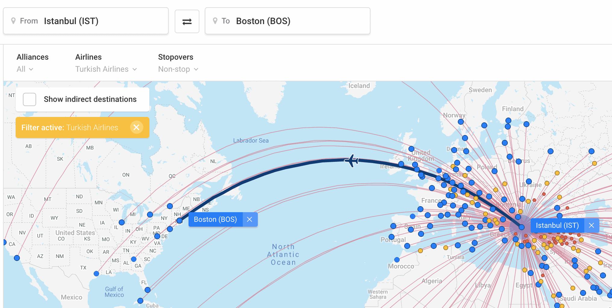tk flight connection