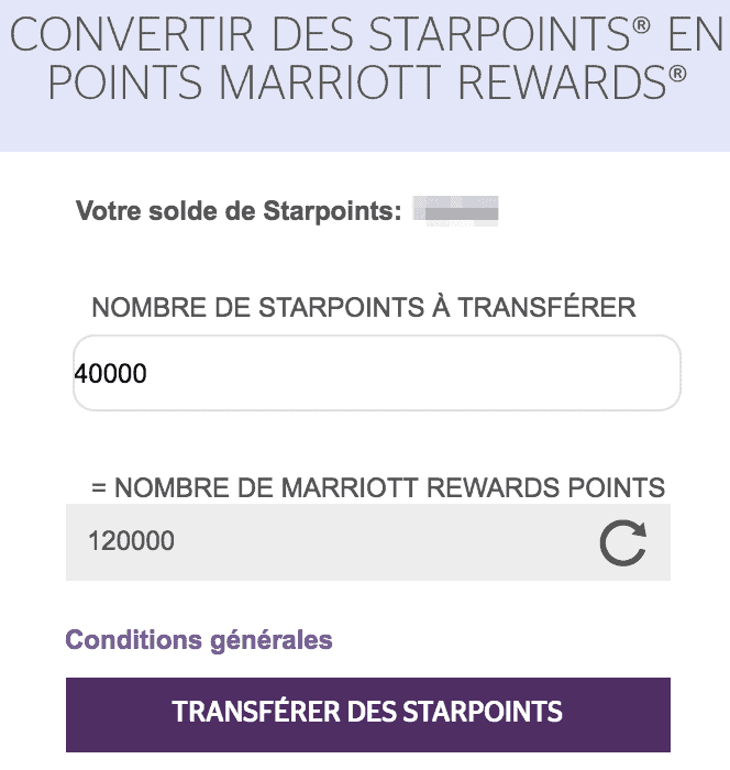 transfert points spg vers marriott 2