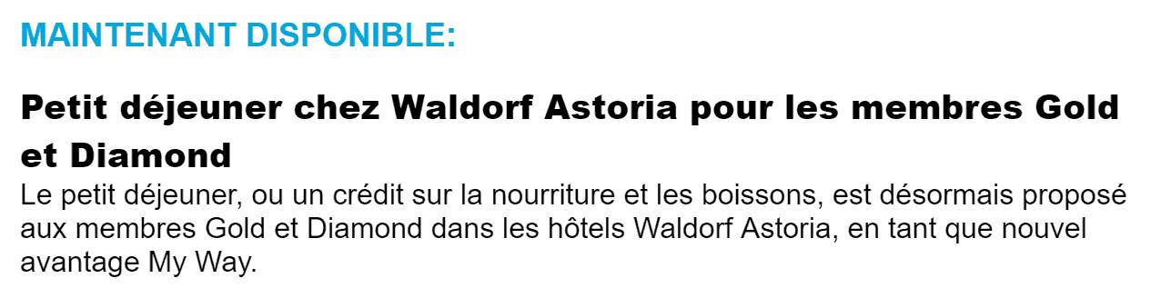 waldorf astoria petit dejeuner