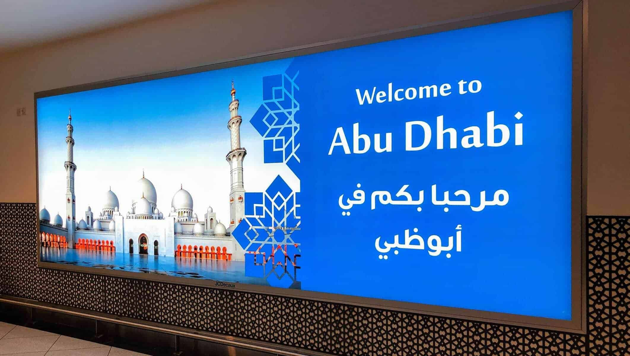 welcome to abu dhabi