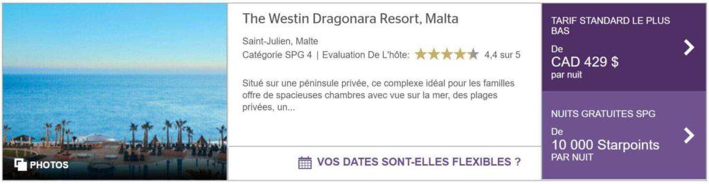 westin dragonara resort malta spg