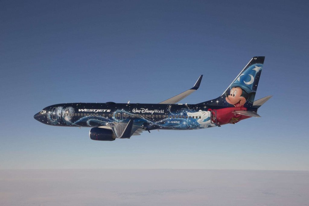 westjet boeing 737 nextgen magic plane