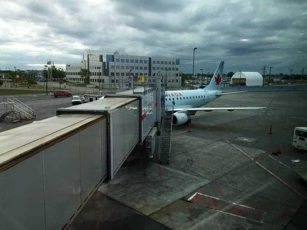 Embarquement Air Canada vers New-York EWR