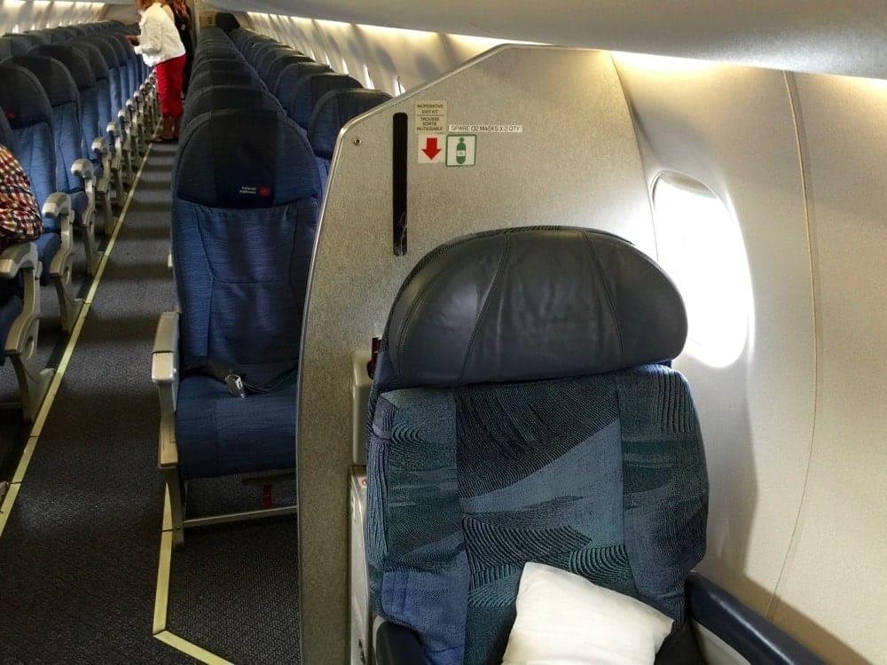 Cabines affaires et économique d'Air Canada