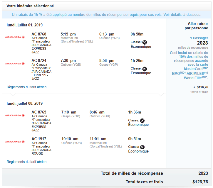 Exemples de tirages au sort AIR MILES