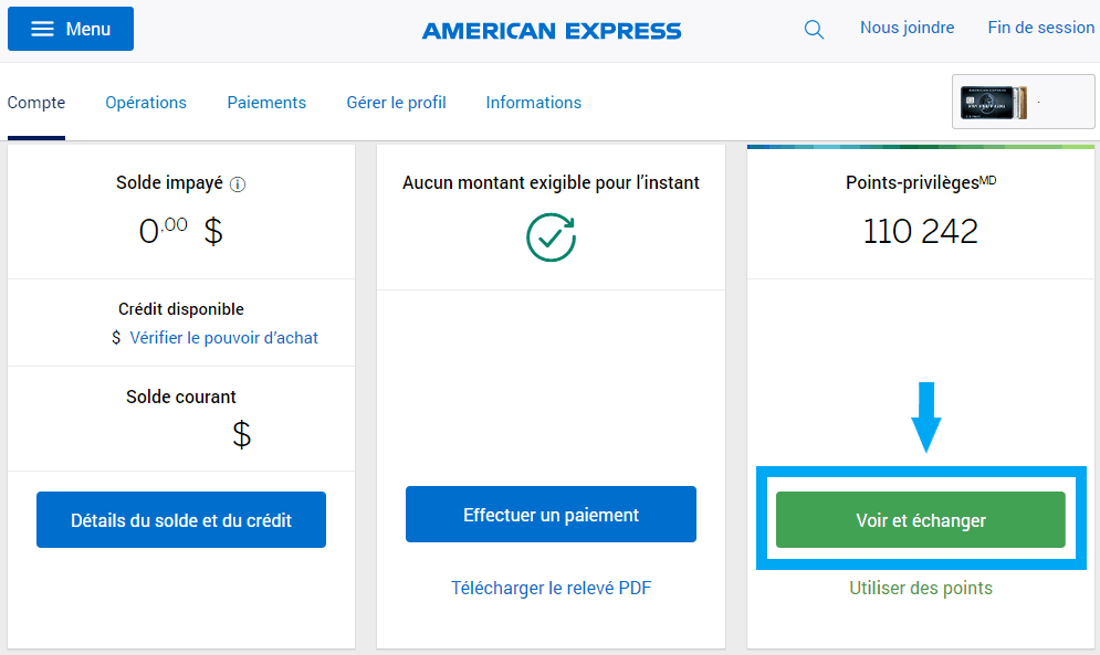 amex consulter points