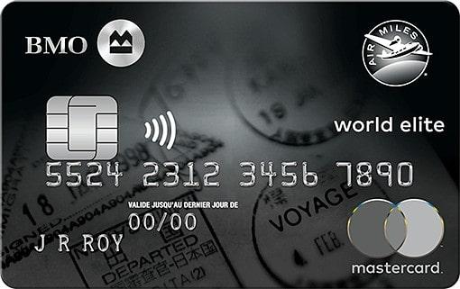 bmo air miles world elite mastercard fr 1