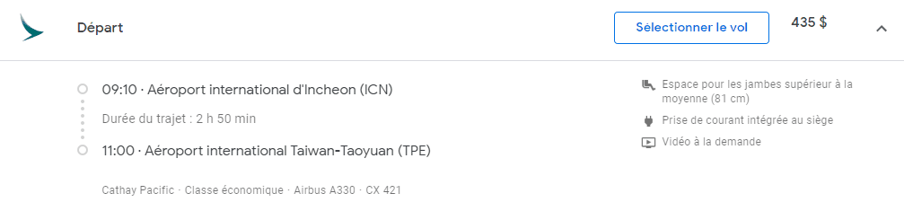 icn tpe google flights sans date