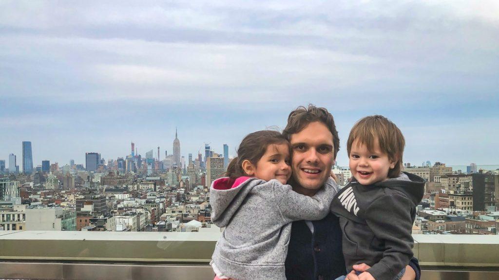 Avec les enfants à New York