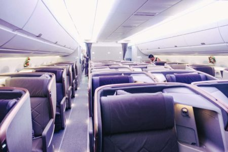 Singapore Airlines A350 Business Class Cabine