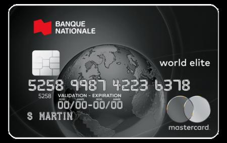 Carte Bnc World Elite Mastercard