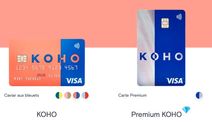 KOHO Visa : Une nouvelle carte de crédit prépayée avec remise en argent